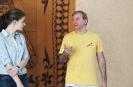 Мастер йоги Кешава Шутц и переводчица Светлана Волкова