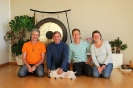 Андрей Лобанов, сооснователь сети Yoga Vidya Кешава Шутц и преподаватели центра Yoga Vidya в Мёрсе